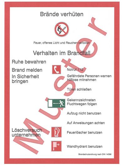 Muster Brandschutzordnung nach DIN